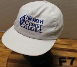 Vintage North Coast Electric Seattle Snapback Truckers Hat White Vgc F7
