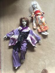 Salejapanese Traditional Handmade Ball Jointed Dolls-made Out Of Clay In Kimono