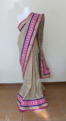 Indian Sari PolyCotton Blend Jacquard fabric Blouse piece Sequence work party