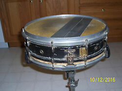 Vintage 1920and039s Slingerland Aluminum Snare Drum Very Rare Used Cond. Geisler