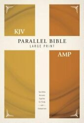 Kjv, Amplified, Parallel Bible, Large Print, Hardcover, Red Letter Two Bible