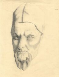 Marion Grace Hocken, Cardinal Scipione Borghese After Bernini – 1940 Drawing