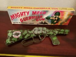 Sy Mighty Mego Tin Toy Gun Made In Japan In Original Box Tin Toy Lot Old Toy