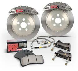 StopTech Front Big Brake Kit Calipers Slotted Rotor Trophy for 04-07 Subaru STI