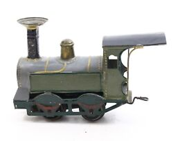 """Antique Fv French Train 6.5"""" Locomotive Tin Hand Painted Ca. 1890s-1900s"""