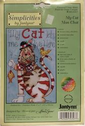 Janlynn Simplicities Counted Cross Stitch #030 0307 quot;My Catquot; KIT NIP