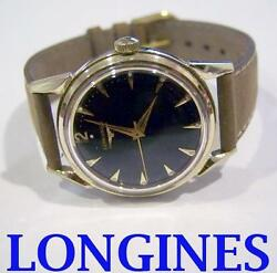 Solid Gold 14k Longines Winding Watch 1960and039s Cal.23 Zs Exlnt Condition Serviced