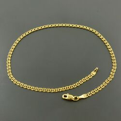 10k Yellow Gold 2.7mm Multi Link Love 10 Anklet W/ Lobster Lock