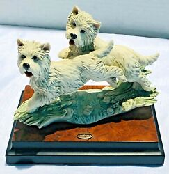 West Highland White Terrier Figurine - Guisippe Armani Florence 1997