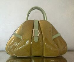 Christian Dior Patent Leather Bowler Bag