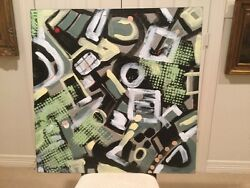 Abstract Painting By Elizabeth Mukerji American 20th Century