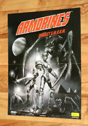 2000 Vintage Armorines Project S.w.a.r.m. Very Rare Small Poster Ps1 Nintendo 64