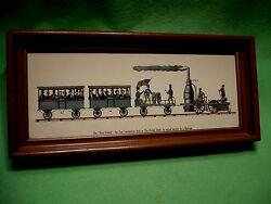 Antique Colored Print Of And039 The Best Friend And039 The United States First Locomotive