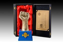 Manny Pacquiaoand039s Official Metal Fist Statue