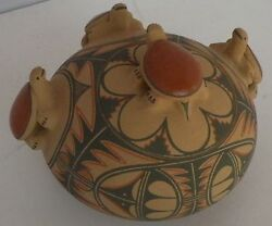 Native American, Jemez Bowl, Vessel, Pot Pottery With Turtles By Laura Gachupin