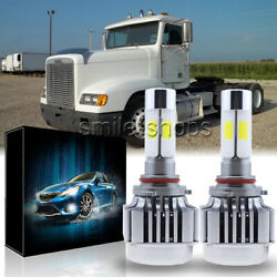 2x LED Headlight Conversion Kit Low Beam Bulb For Freightliner Columbia 96-2013