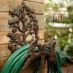 Heavy Duty Cast Iron Hose Holder,garden And Yard Decorative Wall Mounted Hose Reel