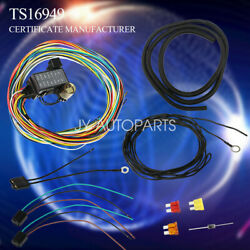 14 Circuit Universal Wiring Harness Muscle Car Hot Rod Street Rod Xl Wires New