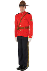 Brand New Royal Canadian Mountie Police Officer Adult Costume