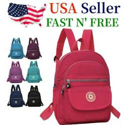 Waterproof Mini Backpack Women Purse Nylon Shoulder Rucksack Small Travel Bag $12.79