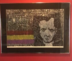 Vintage Antonio Frasconi A Lorca Framed Matted Signed Lithograph Art