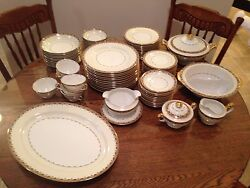 Vintage Meito Mei196 China- Service For 10 Minus 3 Cups With Service Pieces