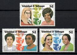 Trinidad & Tobago 1980 Decade for Women 1st Issue MNH set S.G. 577-579