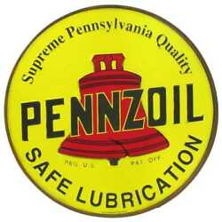 Pennzoil Metal Sign Raised Letters 12 By 12 Inches Vintage Looking Gas And Oil