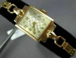 Antique Zarja 14kt Rose Gold 3d Classic Square Link Watch 2023