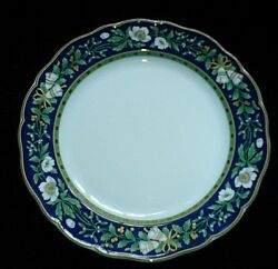 Hutschenreuther Germany White Rose, Bells, Blue,gold,green 372 10 3/4 Inch Plate