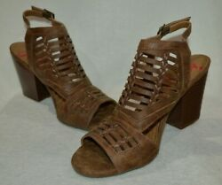 Jellypop Kristy Tan Distress Womenand039s Peep Toe Booties - Assorted Sizes Nwb