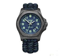 New Victorinox Inox Carbon Paracord Style Blue Dial Menand039s Watch 241860