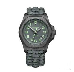 New Victorinox Inox Carbon Gray Dial Paracord Style Menand039s Watch 241861
