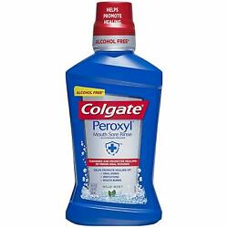 Colgate Peroxyl Mouth Sore Rinse Mild Mint - 500Ml 16.9 Fluid Ounce