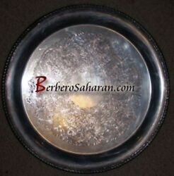 Antique Hecworth Reproduction Old Sheffield Silver Tray - Similar To Moroccan