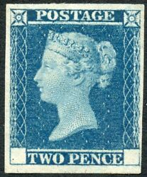 1841 2d Blue Proof Issue Without Corner Letters. S.g. Dp 43.