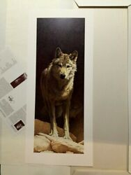 Standing Watch Wolf Scott Kennedy1995 Limited Edition/850 Lithograph Nif/coa