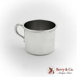 Small Heavy Weight Childs Cup Sanborns Sterling Silver Mexico 1955