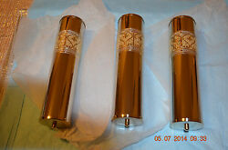 Grandfather Clock Fancy Weights Shells Only Set Of 3 Decorative No Inserts