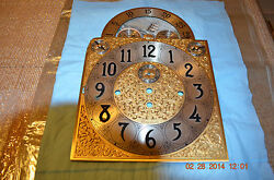 Herschede Grandfather Clock Dial For Parts Or Project