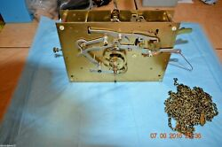 Jauch P110 Grandfather Clock Chain Movement For Parts Or Repair