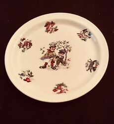 Arklow Child's Plate Simple Simon Met A Pie Man Product Of Ireland 7-1/2