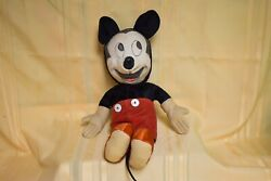 Character Novelty Company Mickey Mouse Vintage Pre 60's Plush Doll