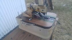 Reece Pocket Welt Or Buttonhole Industrial Sewing Machine W/table And Motor Denim