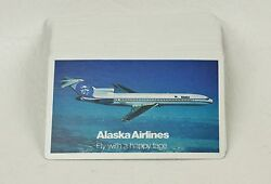 Vintage Alaska Airlines Playing Cards Fly With A Happy Face Opened