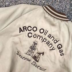 Rare Arco Gas And Oil Original Varsity Style Jacket - King Louie Pro Fit Xl 48/50