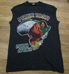 Rare Vintage 1983 Peter Tosh Word Sound And Power World Tour Muscle T-shirt Reggae