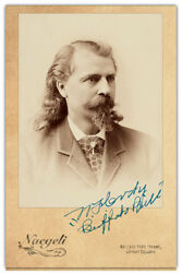 William F. Buffalo Bill Cody Old West Legend Vintage Photo Cabinet Card Rp 2
