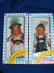 Vintage Dbgm Wind Up 1960's Dancing Dolls Boxed Toys Made Germany Tin Toy Lot
