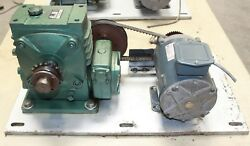 Ge 1/4 Hp 90v Dc Variable Speed Electric Motor 1750 Rpm Max With 4001 Gearbox